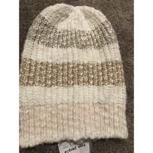Free People $38 Cozy in Stripes Beanie Hat NWT